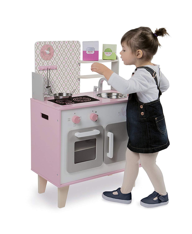 "La cuisine Janod ""Macaron"" dispose d'un design moderne et girly."