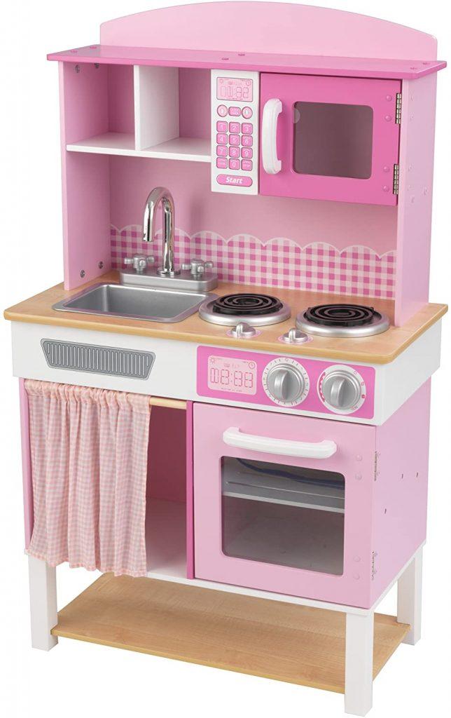 La cuisine pour enfant Home Cookin ne prend pas beaucoup de place.