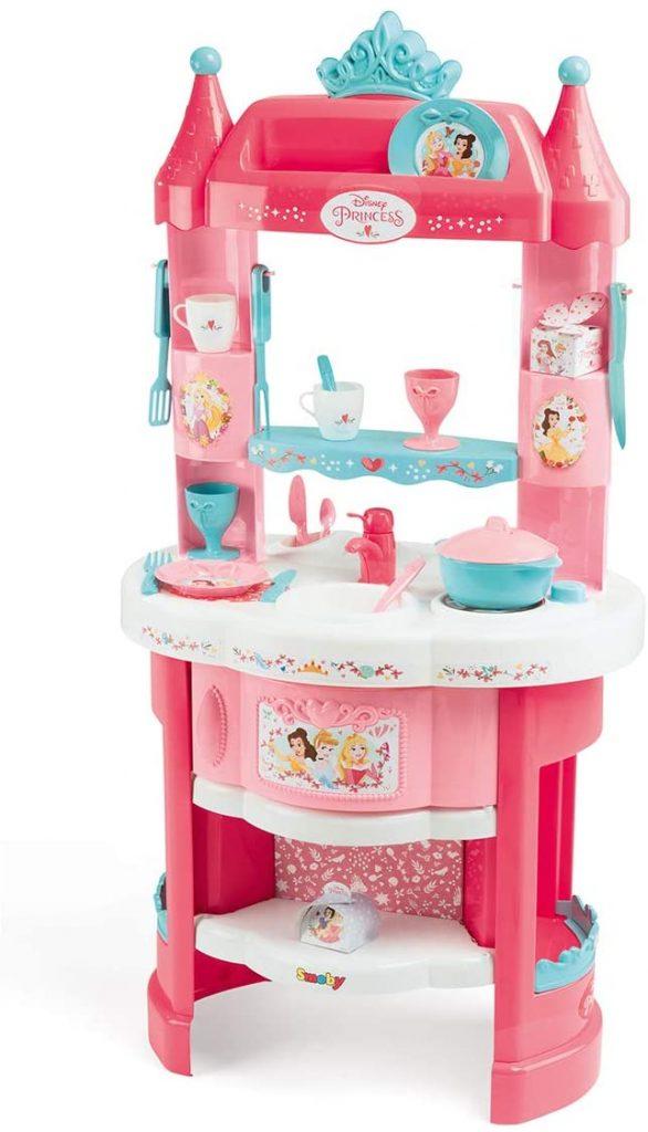 La cuisine Disney Princesses Smoby a plusieurs rangements.