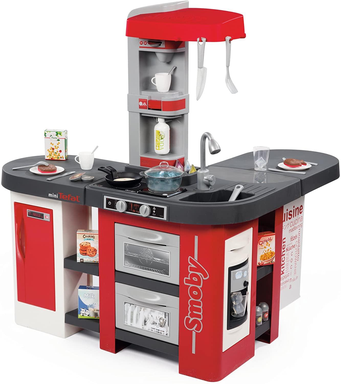 La cuisine Smoby Tefal Studio XXL Bubble comprend 38 accessoires.