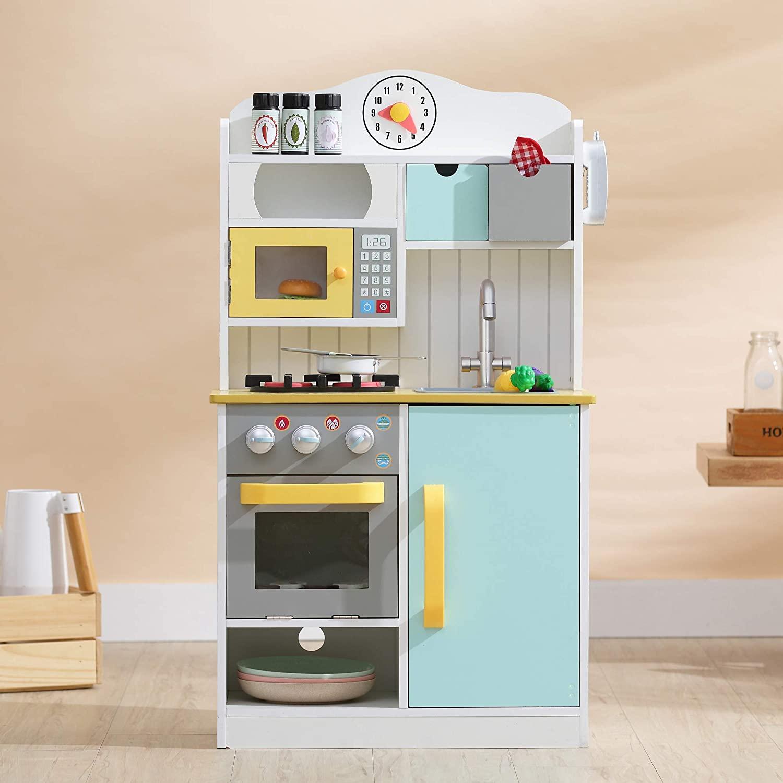 La cuisine Teamson Kids est un jouet d'imitation pour les enfants de 3 ans et plus.