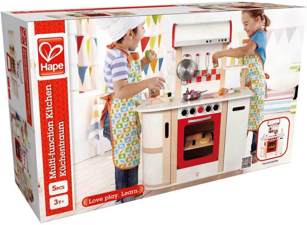 La cuisinière enfant Hape convient aux enfants de 3 ans et plus.