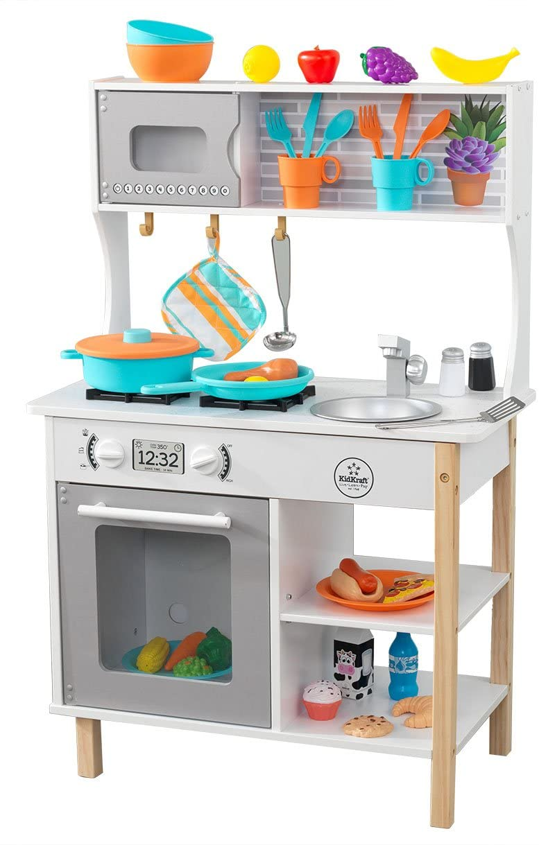Kidkraft cuisine All Time Play est une cuisine jouet en bois.;
